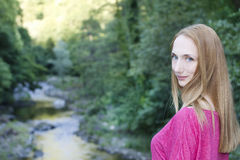Cute girl in nature portrait Royalty Free Stock Images