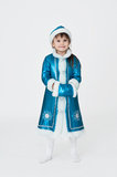 Cute girl in New Year fancy dress Royalty Free Stock Images