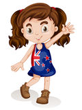 Cute girl in new zealand dress Stock Photo