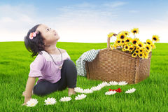 Cute girl outdoor Royalty Free Stock Photo