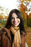 Cute girl outdoor autumn Royalty Free Stock Photos