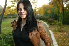 Cute girl outdoor autumn Royalty Free Stock Photo