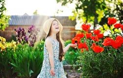 Cute girl outdoor Stock Photos