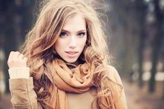 Cute Girl Outdoors Stock Photos