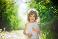 Cute girl outdoors Royalty Free Stock Images