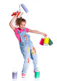 Cute girl painter Royalty Free Stock Photography