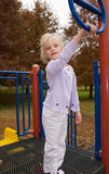 Cute Girl in Park. A cute girl playing in a park Royalty Free Stock Photos