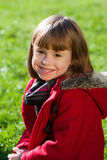 Cute girl in park portrait Royalty Free Stock Images