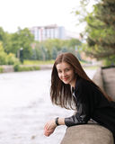 Cute Girl in the Park Royalty Free Stock Images