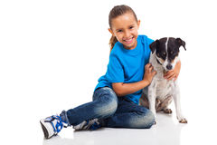 Cute girl pet Royalty Free Stock Photo