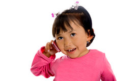 Cute girl on the phone Stock Photo