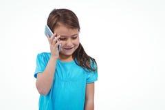 Cute girl on a phone call Stock Photos