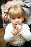 Cute girl with pigtails Royalty Free Stock Images