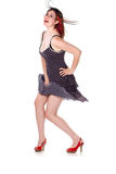 Cute girl in pin-up pose Stock Photography