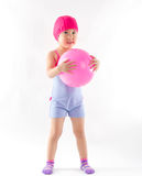 Cute girl playing ball Royalty Free Stock Photography