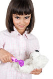 Cute girl playing doctor Royalty Free Stock Photos