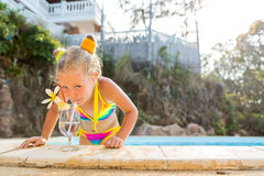 Cute girl at the pool Royalty Free Stock Photo