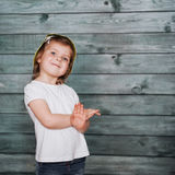Cute girl posing for the camera. Ukraine. Europe Royalty Free Stock Images