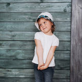 Cute girl posing for the camera. Ukraine. Europe Stock Photography