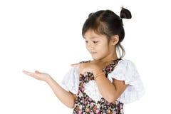 Free Cute Girl Presenting Something Stock Image - 21110461