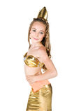 Cute girl in princess costume Stock Photos