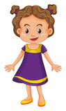 Cute girl in purple dress. Illustration Stock Photography