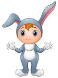 Cute girl in rabbit costume Royalty Free Stock Image