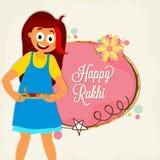 Cute Girl for Raksha Bandhan celebration. Royalty Free Stock Photos