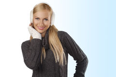 Cute girl ready for the winter cold day Stock Photo