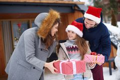 Christmas time with family royalty free stock images