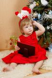 Cute girl in red dress. Cute little girl in red princess dress Stock Images