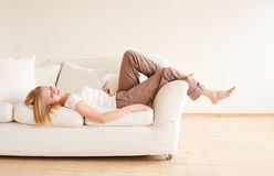 Cute Girl Relax Royalty Free Stock Images