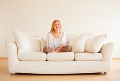 Cute Girl Relax Stock Images