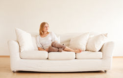 Cute Girl Relax Royalty Free Stock Photos