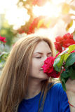 Cute Girl with a rose Stock Photography