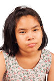 Cute girl sad and morose Royalty Free Stock Images