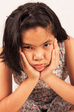 Cute girl sad and morose. Portrait cute girl sad and morose Royalty Free Stock Photos