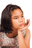 Cute girl sad and morose Royalty Free Stock Photography