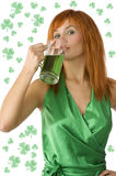 Cute girl saint patrick Royalty Free Stock Images