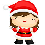 Cute Girl in Santa Costume Royalty Free Stock Photos