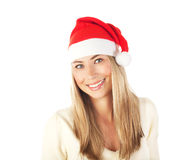 Cute girl in Santa hat Royalty Free Stock Photography