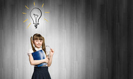 Cute girl of school age Royalty Free Stock Images