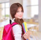 Cute girl at school Stock Photography