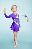 Cute girl seven years dancing Royalty Free Stock Images