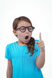Cute girl shaking finger saying no Stock Images