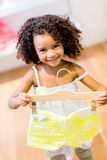 Cute girl shopping Royalty Free Stock Image