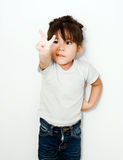 Cute girl show funny face Stock Photography