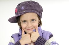 Cute girl showing ok sign Royalty Free Stock Photos