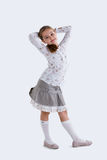Cute girl in skirt Royalty Free Stock Images