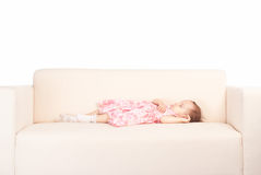 Cute girl sleeping Stock Photography